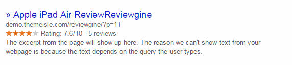 Rich Snippets WP Product Review